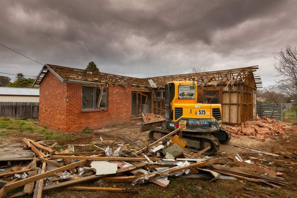 Homes by Howe Canberra builder —knockdown rebuild in progress in Watson, ACT.