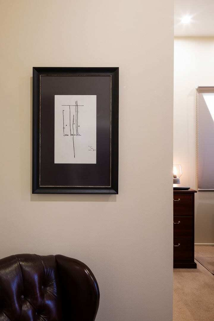 Homes by Howe Canberra builder – Enrico Taglietti designed home - framed signature