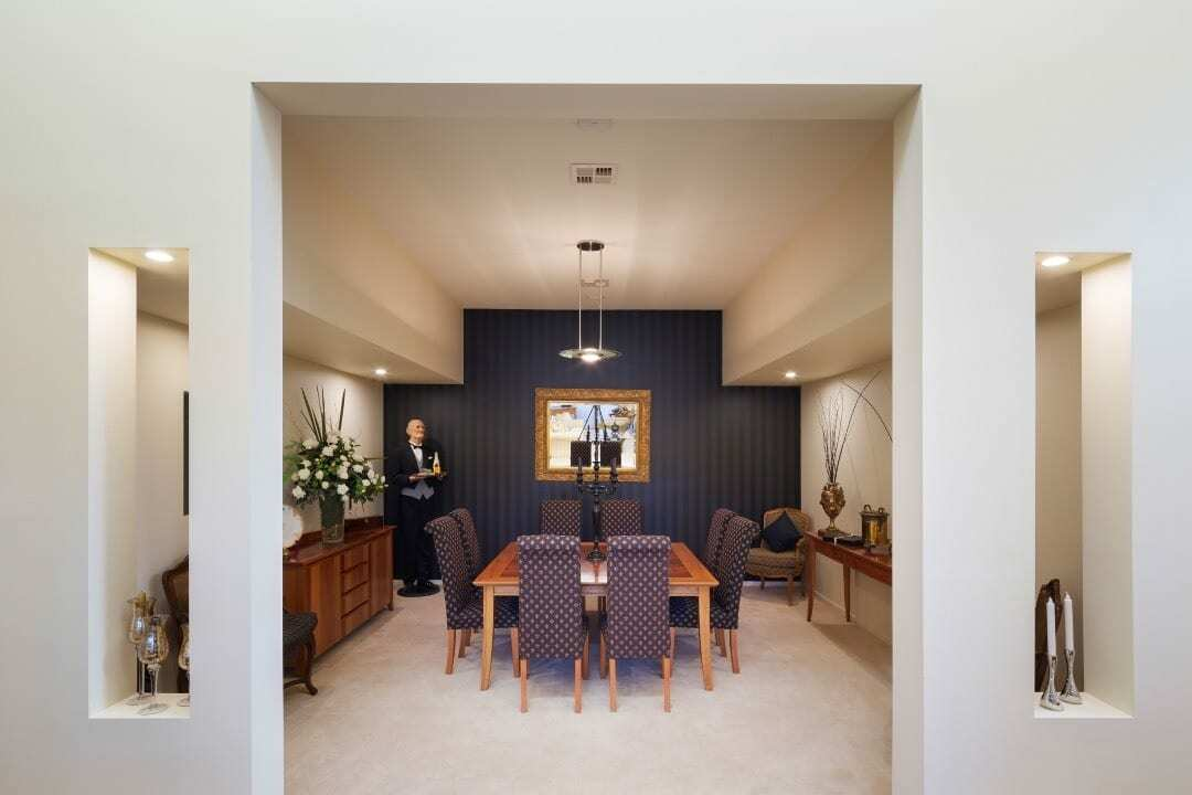 Homes by Howe Canberra builder – Enrico Taglietti designed home - dining room