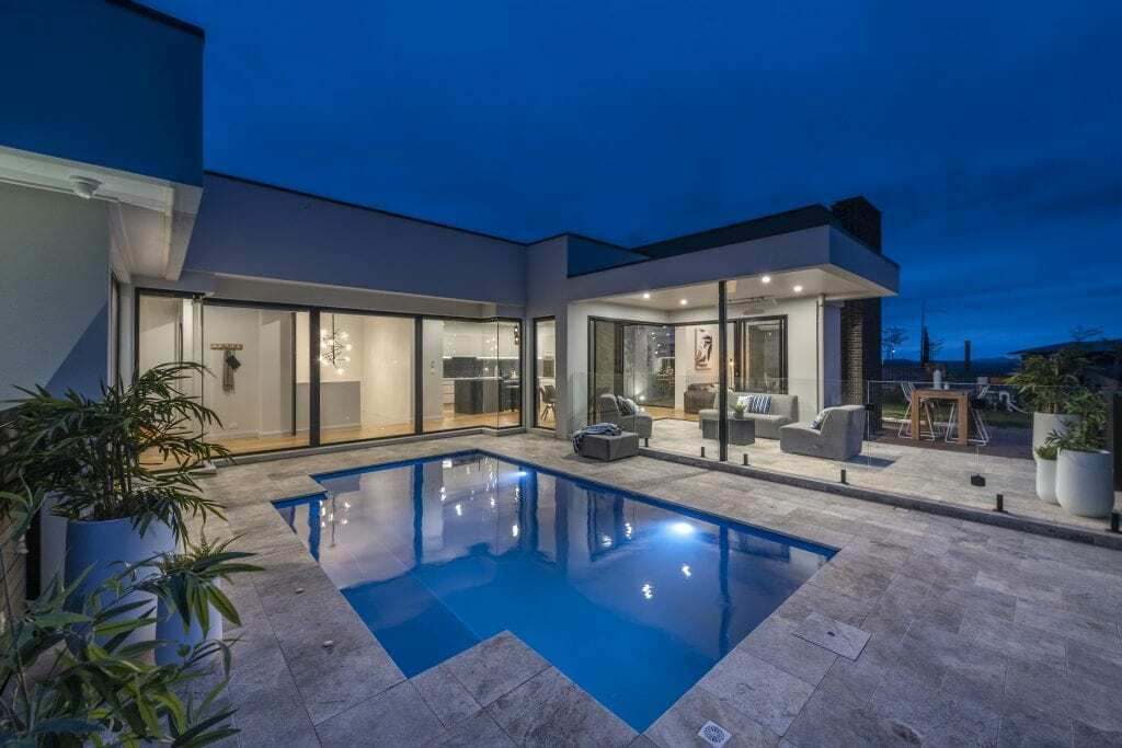 Homes by Howe Canberra builder – pool and alfresco area at our Denman Prospect new build.